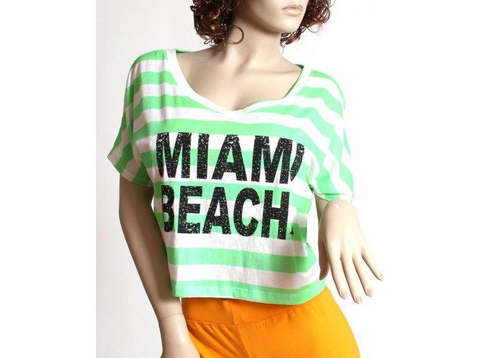 CHICOREE dámské tričko neonové proužkované