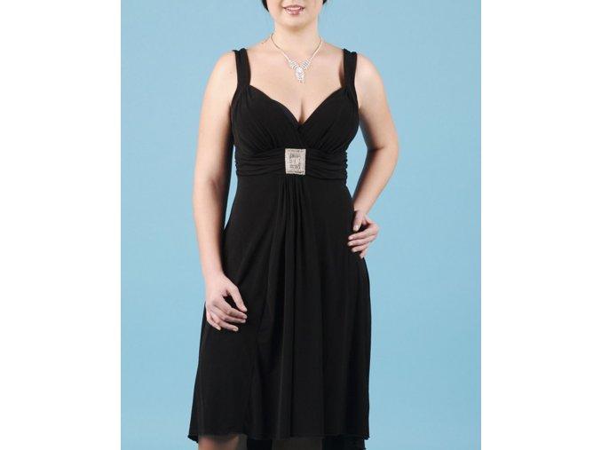 EN FOCUS STUDIO dámské plesové šaty černé s výšivkou