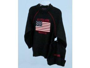 U. S. POLO ASSN dětský pletený svetr a čepice