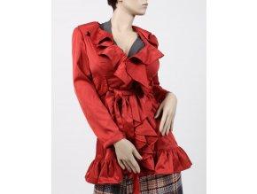 Trendology dámské sako/kabátek cihlové s volány