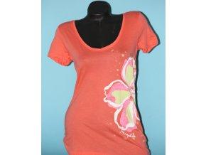 Aéropostale dámské tričko oranžové s barevnou květinou