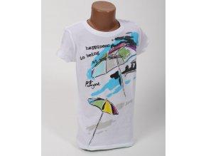 Aéropostale dětské tričko bílé s obrázkem pláže