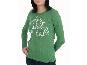 Aéropostale dámské vánoční tričko zelené