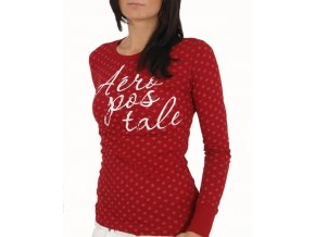 Aéropostale dámské vánoční tričko červené