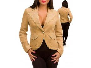 MOA U.S.A. dámské sako/kabát béžové