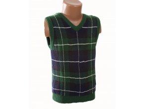 CHEROKEE dětská vesta zelená se vzorem