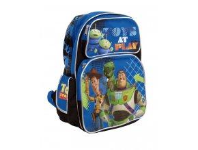 DISNEY příběh hraček dětský batoh modrý s obrázkem a nápisem TOYS AT PLAY