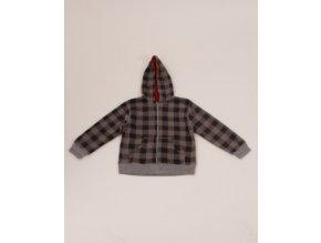 FADED GLORY dětská bunda šedá károvaná