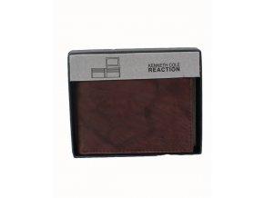 KENNETH COLE REACTION pánská kožená peněženka hnědá