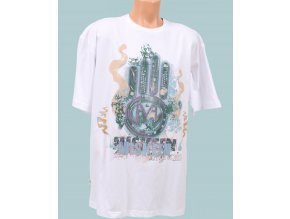 Miskeen pánské tričko bílé s logem