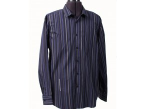 I.N.C. pánská košile černofialová proužkovaná