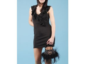 PEACHES N CREAM dámské šaty černé
