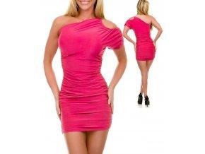 JFANY D USA dámské šaty tmavě růžové