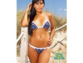 Blue body Brazil dámské brazílské plavky modré