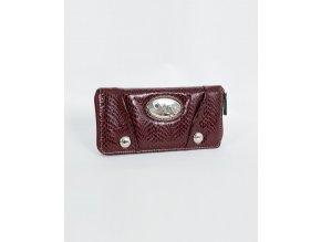 XOXO dámská peněženka lesklá bordó