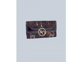 XOXO dámská peněženka hnědozlatá se znakem XOXO