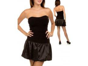 NINA PIU USA dámské šaty černé s balónovou sukní
