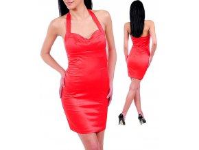 Wishes dámské šaty červené lesklé