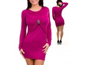 EVERY DAY dámské šaty fialové se sponou