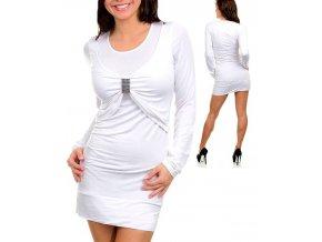 EVERY DAY dámské šaty bílé se sponou
