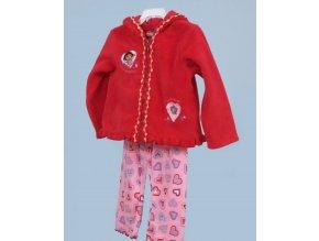 NICK JR dětská souprava, červený kabátek s kapucí a kalhoty se srdíčky