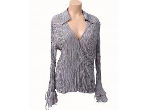 KAELYN-MAX dámská halenka/košile šedá s černými proužky
