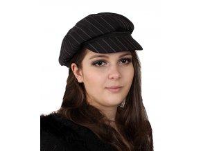 MADD HATTER dámská kšiltovka černá s proužkem