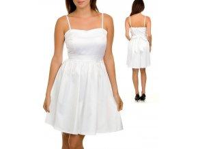 NINA PIU USA dámské šaty bílé lesklé