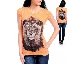 Los Angeles dámské tričko oranžové se lvem