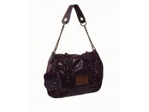 bebe dámská kabelka fialová lesklá