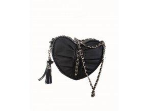 bebe dámská kabelka černá ve tvaru srdce
