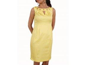 Studio AA dámské šaty žluté