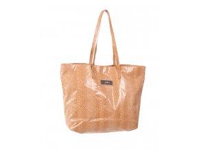 Calvin Klein dámská kabelka písková lesklá