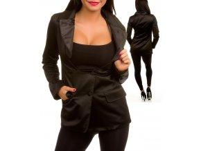 TCEC dámské sako černé lesklé
