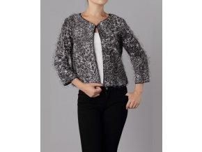 MOON COLLECTION dámský svetřík leopardí šedý