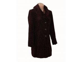 Calvin Klein dámský kabát / kožíšek čokoládově hnědý
