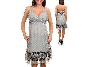 P. O. P. dámské šaty šedé