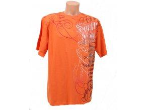 SOUTH POLE pánské tričko oranžové
