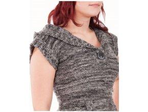 KISSIT dámský svetr šedý pletený