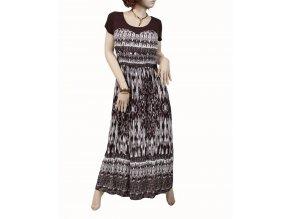 FASHIONISTA dámské šaty letní hnědobílé