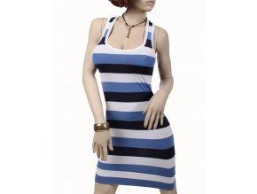 VERT de RAGE dámské šaty proužkované bílomodré