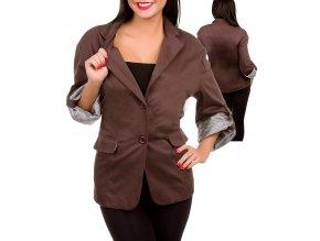 LIBIAN dámské sako/kabátek hnědé
