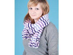 FADED GLORY dámská/dívčí šála s fialovými proužky
