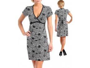 XTY PNOTIK dámské černobílé šaty