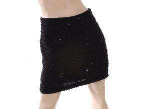 MOON COLLECTION dámská sukně černá s flitry