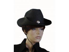 AB dámský kovbojský klobouk černý