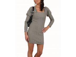 XOXO dámské šaty pletené šedé