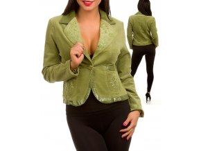 MISHA U.S.A. dámské sako/kabát zelené