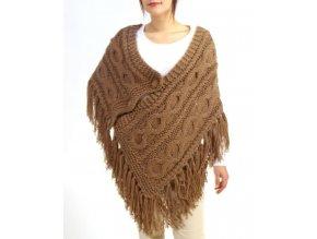 Yag couture dámský pléd světle hnědý