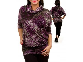 SAN JOY dámská halenka s fialovým vzorem